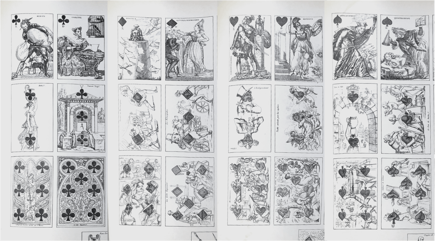 French playing card suits